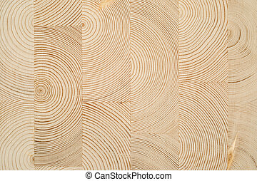 cut wooden laminated veneer lumber when building a house