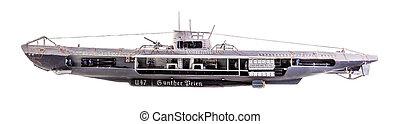 cutaway, u-boat