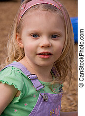 Cute 4 year old Caucasian Girl Portrait