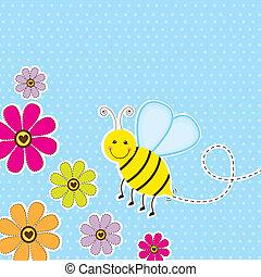 cute, abelha