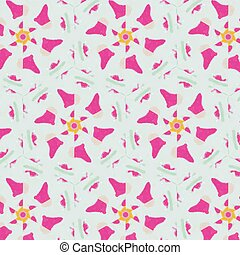 Cute abstract neon feminine pattern for textiles