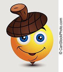 Cute Acorn Emoticon