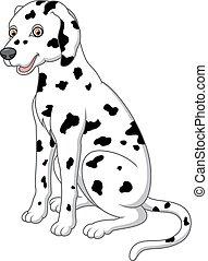cute, adorável, dalmatian