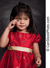 Cute adorable 2-year old toddler girl