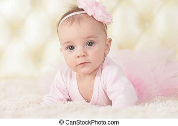 Cute adorable baby girl