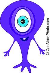 cute adorable scary monster cartoon fictional character vector art