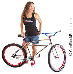 Cute Adult with Mountain Bike