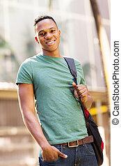 cute african american college boy