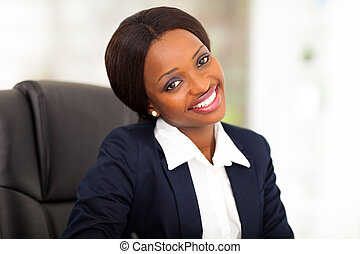 cute african american corporate worker