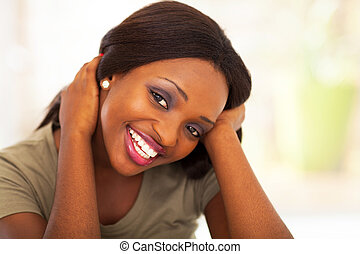 cute african american teen girl