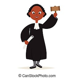 Cute African American The Judge