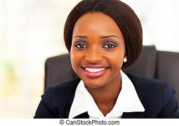 cute african businesswoman closeup