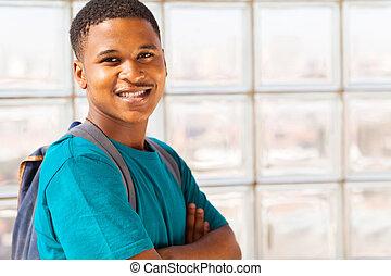 cute african college boy