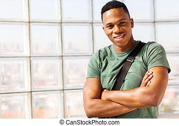 cute afro american guy