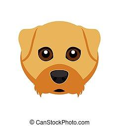 Cute airedale terrier dog avatar