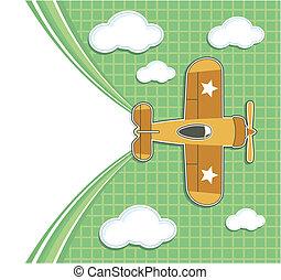 cute airplane background