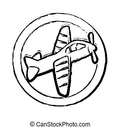 cute airplane toy icon