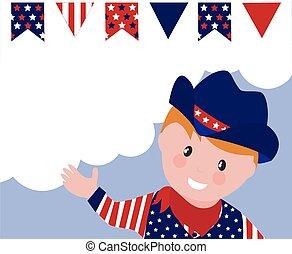 Cute American Cowboy