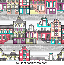 houses seamless pattern