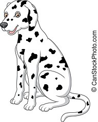 cute and adorable dalmatian dog sitting on floor