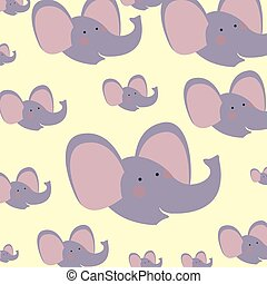 cute and adorable elephants pattern