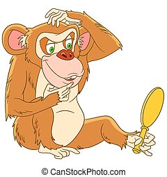 funny cartoon monkey - cute and funny cartoon monkey...