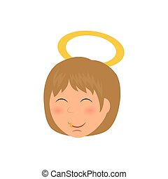 Cute angel cartoon