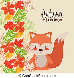 cute animal fall design