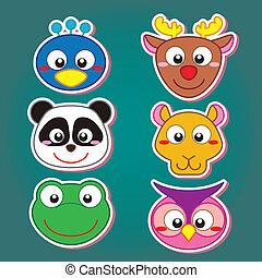 cute animal head icon