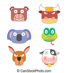 cute animal head icon