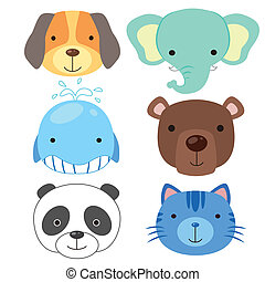 cute animal head icon02