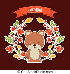 cute, animal, outono