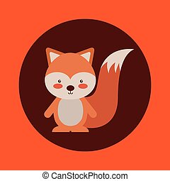 cute, animal, outono, desenho