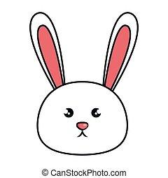 cute animal rabbit kawaii style