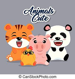 cute animals cartoon
