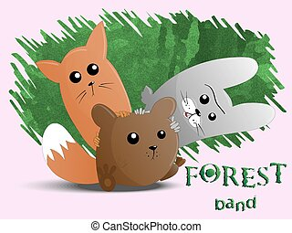 Cute animals forest band