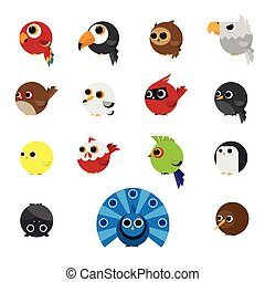 Cute Animals Set of Birds icon