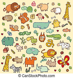 Cute Animals SET XL - Cute and funny animals and everyday...