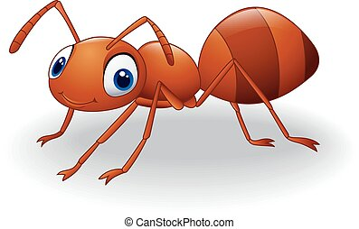 Cute ant cartoon