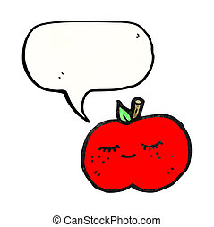 cute apple cartoon