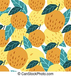 Cute apples background. Seamless pattern with apples