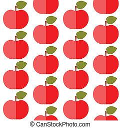 Cute apples seamless pattern