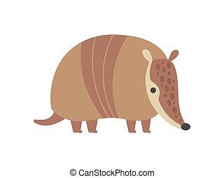 Cute Armadillo Pleistocene Animal Cartoon Vector Illustration
