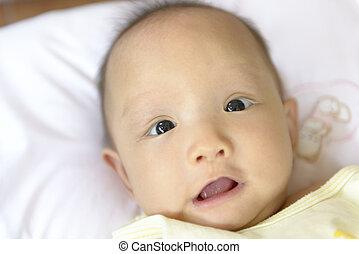 cute Asian baby.