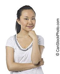 cute asian female