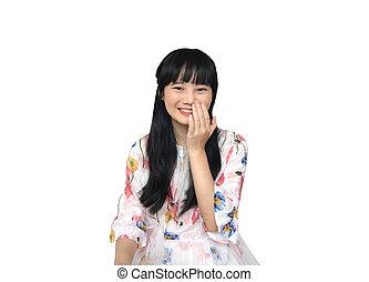 Cute Asian Girl Smiling.
