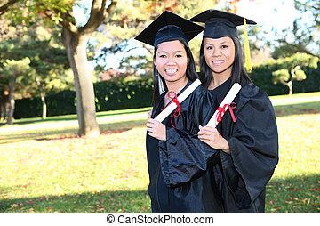 Cute Asian Girls at Graduation