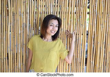 Cute asian woman