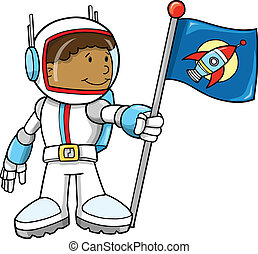 Cute Astronaut Vector Illustration