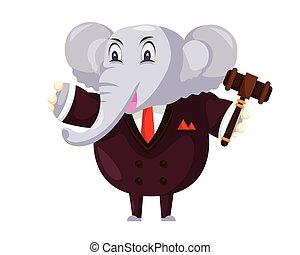 Cute Auction Elephant Cartoon Character